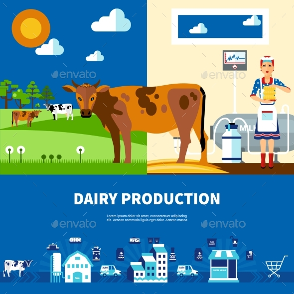 Dairy Production Set - Business Conceptual