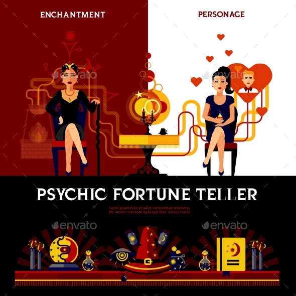 Psychic Fortune Teller Concept - Business Conceptual