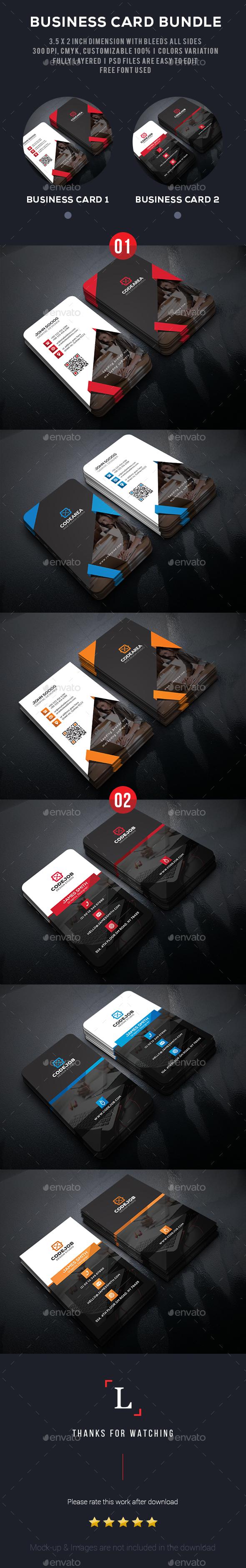 Dark Business Card Bundle - Business Cards Print Templates