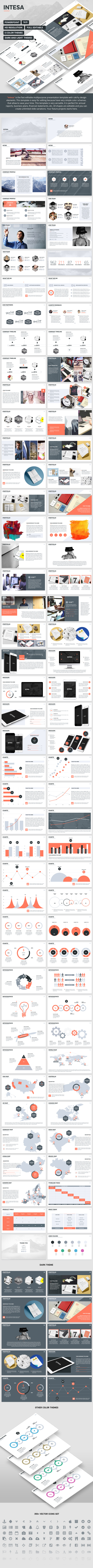 Intesa - PowerPoint Template - PowerPoint Templates Presentation Templates