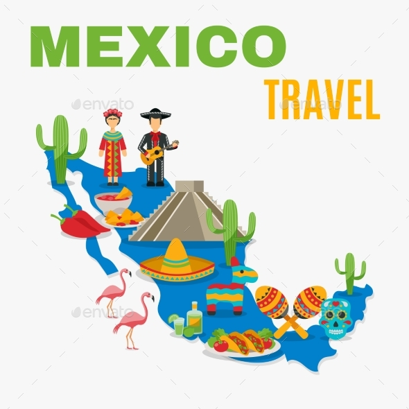 Map Mexico Background - Travel Conceptual