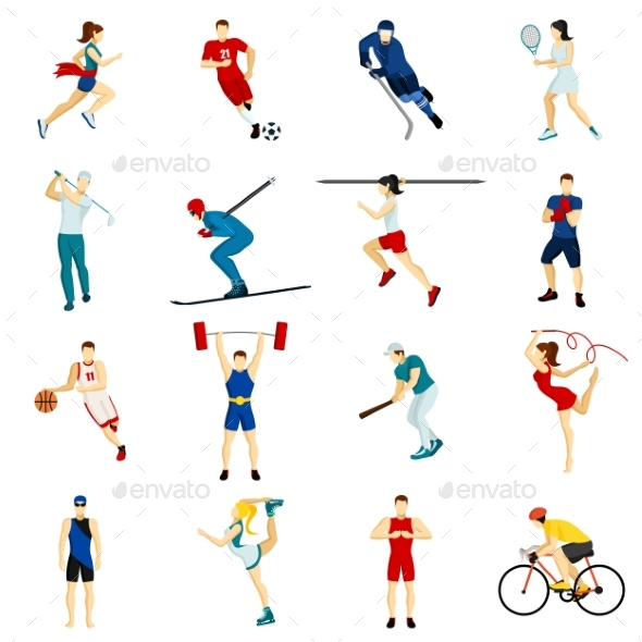 People Sport Icon Set - People Characters