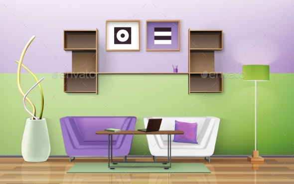 Living Room Design  - Man-made Objects Objects