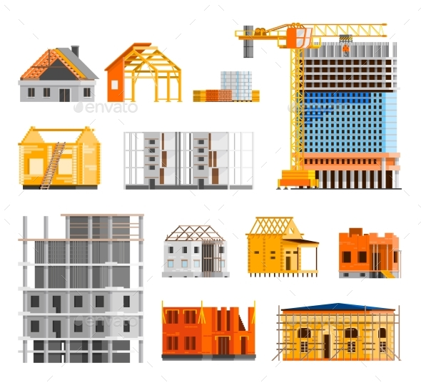 Construction Icons Set  - Industries Business
