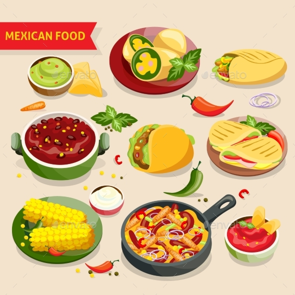Mexican Food Set - Food Objects