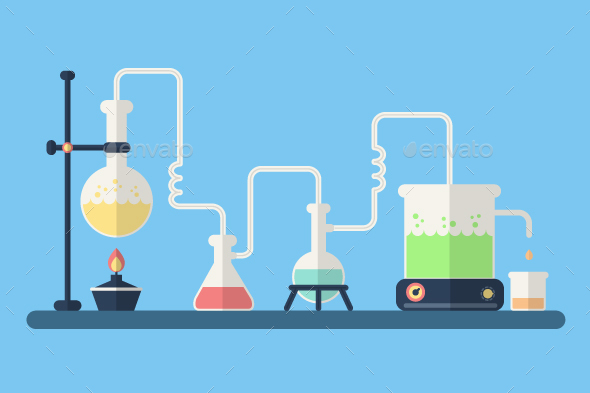Chemistry Background - Man-made Objects Objects