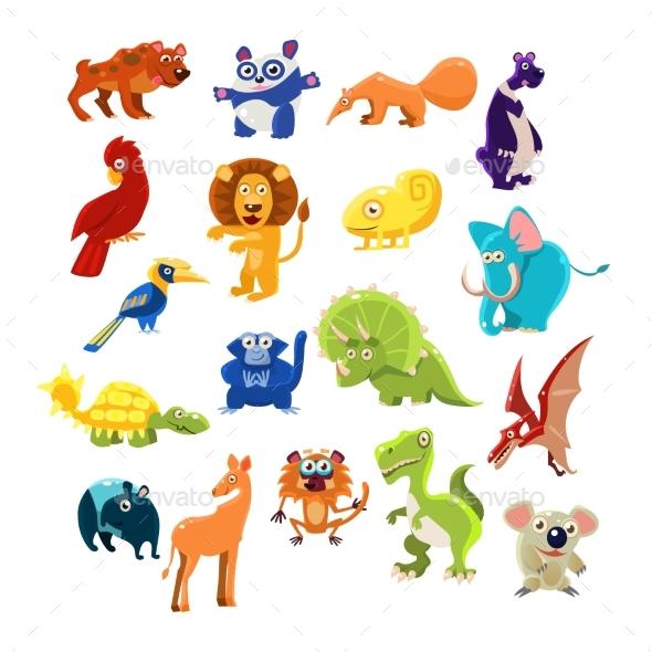 Southern Animals Set - Backgrounds Decorative