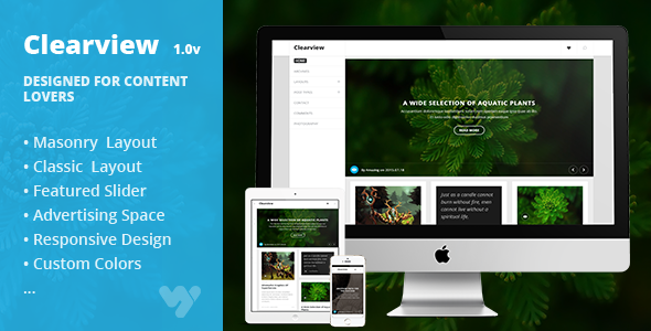Clearview – Simple and Clean Theme for Content lovers