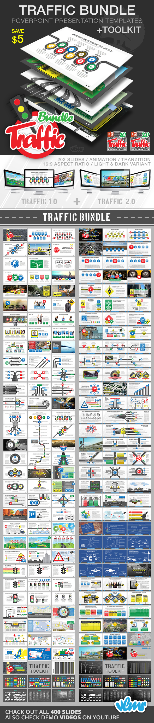 Traffic PowerPoint Presentation Bundle - Creative PowerPoint Templates
