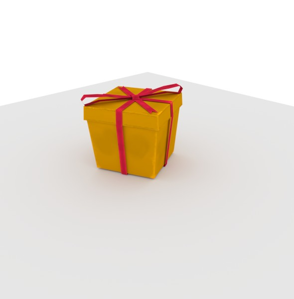 Gift Box, Low Poly. - 3DOcean Item for Sale