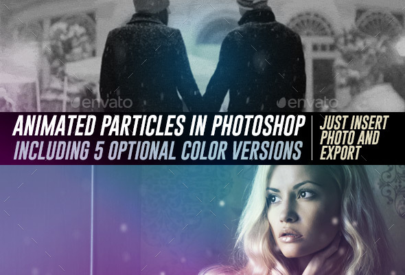 Animated Particles Over Your Photos in Photoshop that Loop Forever - Miscellaneous Graphics