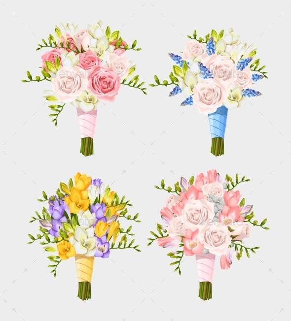 Set of Wedding Bouquets - Weddings Seasons/Holidays