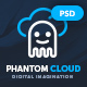 Phantom Cloud - Digital Artist Merchandising Shop PSD Template