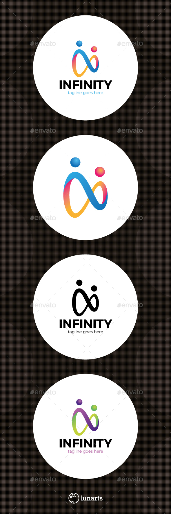 Two Man Infinity Logo - Abstract Logo Templates