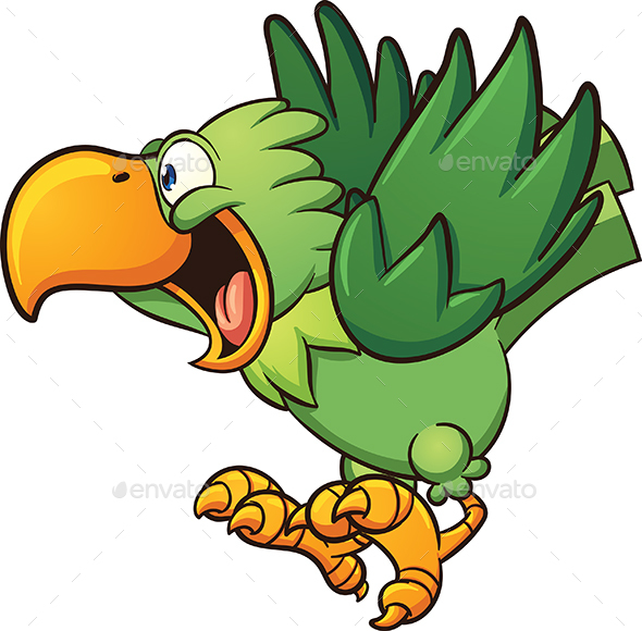 Cartoon Parrot - Animals Characters