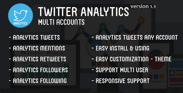 Twitter Analytics Multi Accounts - CodeCanyon Item for Sale
