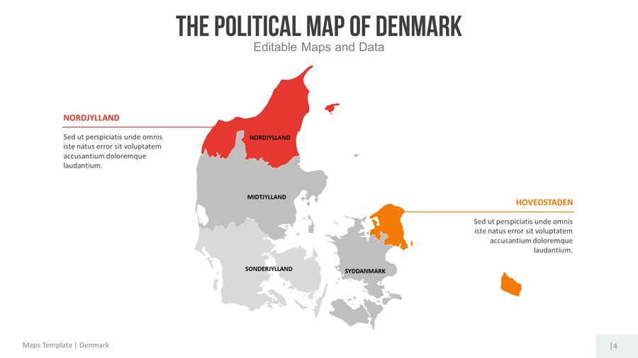 denmark editable map presentation by slidekingdom graphicriver