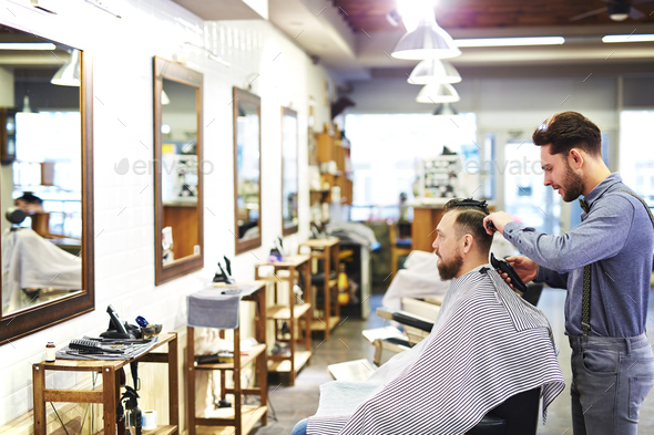 Cutting hair - Stock Photo - Images
