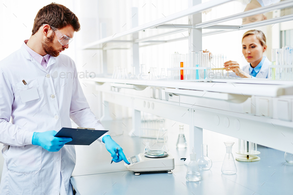 Scientists at laboratory - Stock Photo - Images