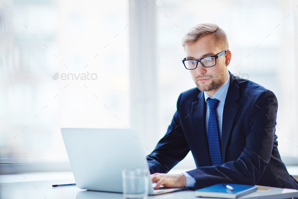 Businessman at work - Stock Photo - Images