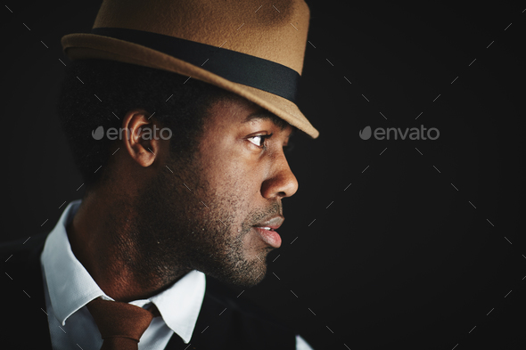 Black man posing - Stock Photo - Images