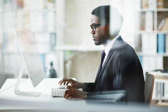 Businessman working - Stock Photo - Images