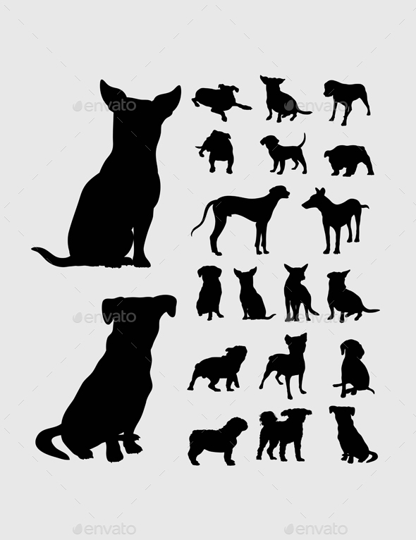 Dog Silhouettes - Animals Characters