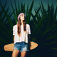 Young Woman with Skateboard - PhotoDune Item for Sale