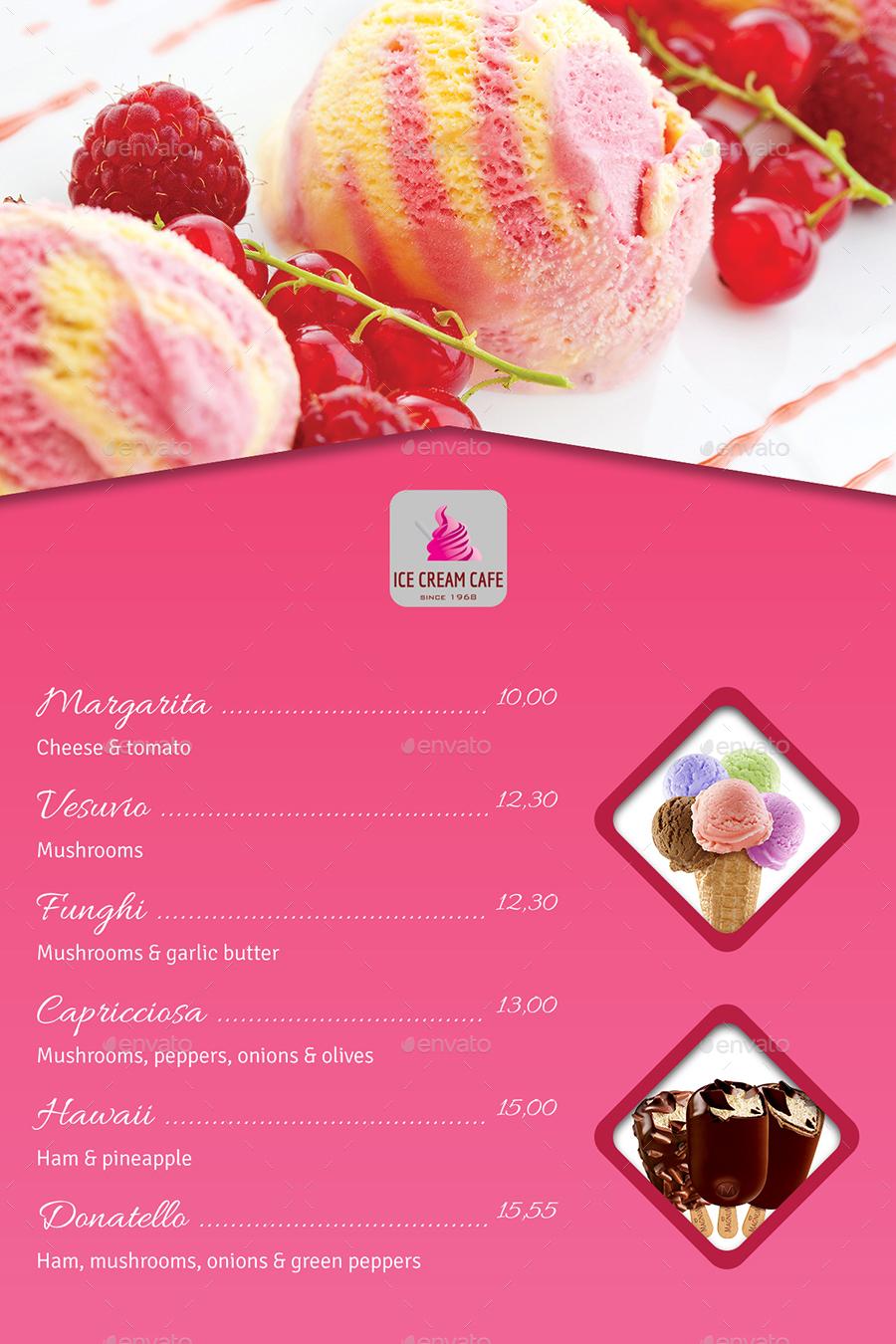 Ice Cream Table Tent Template Vol.2