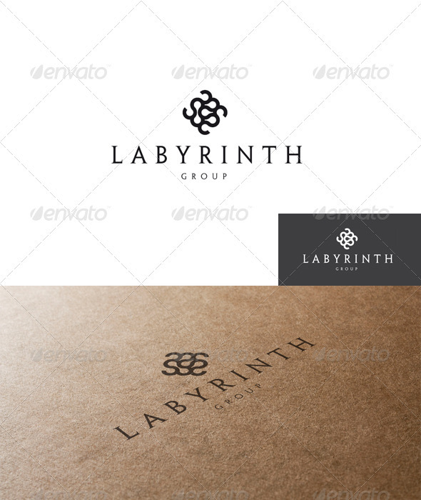 Abstract and Labyrinth Logo - Abstract Logo Templates