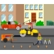 Workers Repairing the Road - GraphicRiver Item for Sale