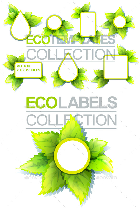 Eco Labels Collection - Backgrounds Decorative