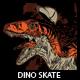 DINO SKATE T-shirt design - GraphicRiver Item for Sale