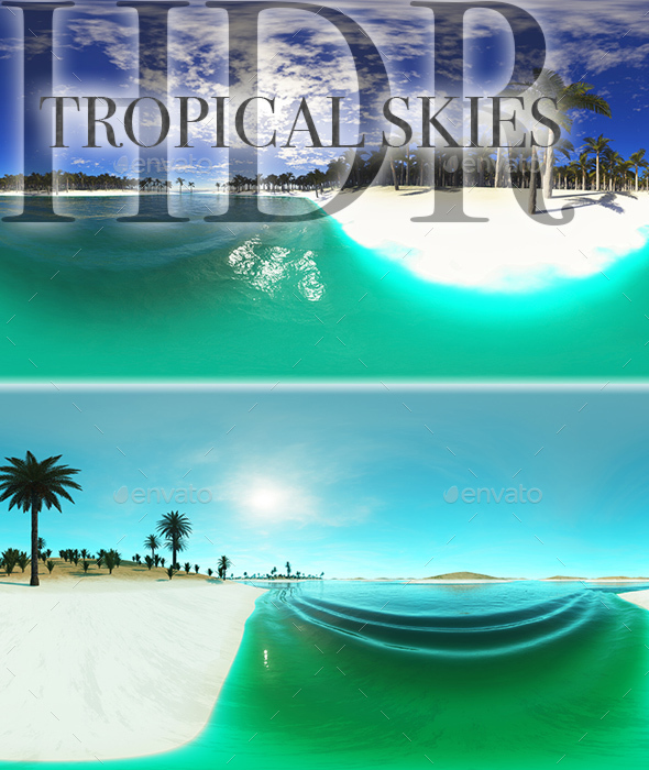 HDR Tropical Skies - 3DOcean Item for Sale