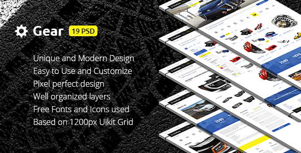 Gear — Automotive Business/Auto Parts Store PSD Template