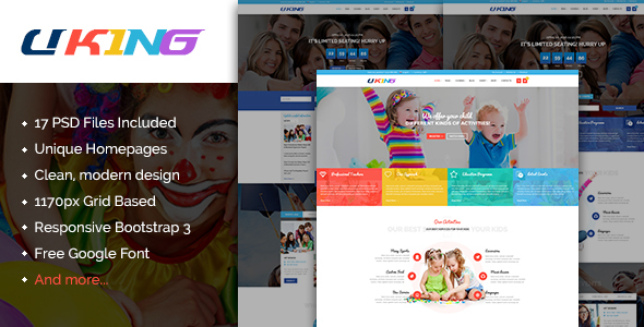 Uking – Creative Business PSD Template