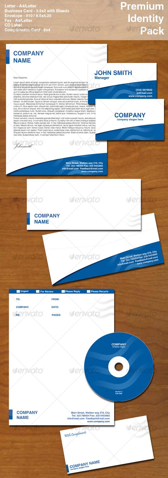 Premium ID Pack - Blue - Stationery Print Templates