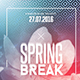 Spring Break Party | Psd Flyer Template - GraphicRiver Item for Sale