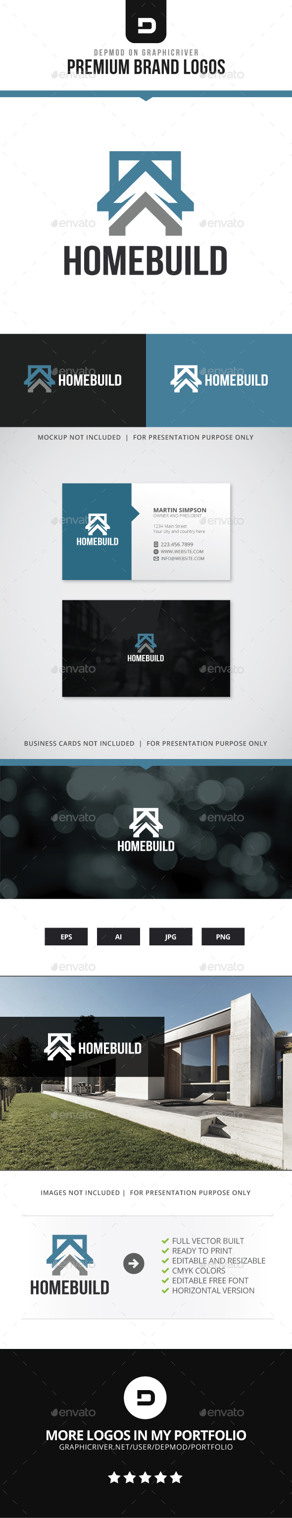 Home Build Logo - Buildings Logo Templates