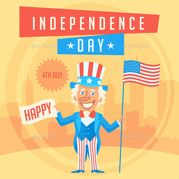 Concept Uncle Sam and Independence Day - Miscellaneous Seasons/Holidays