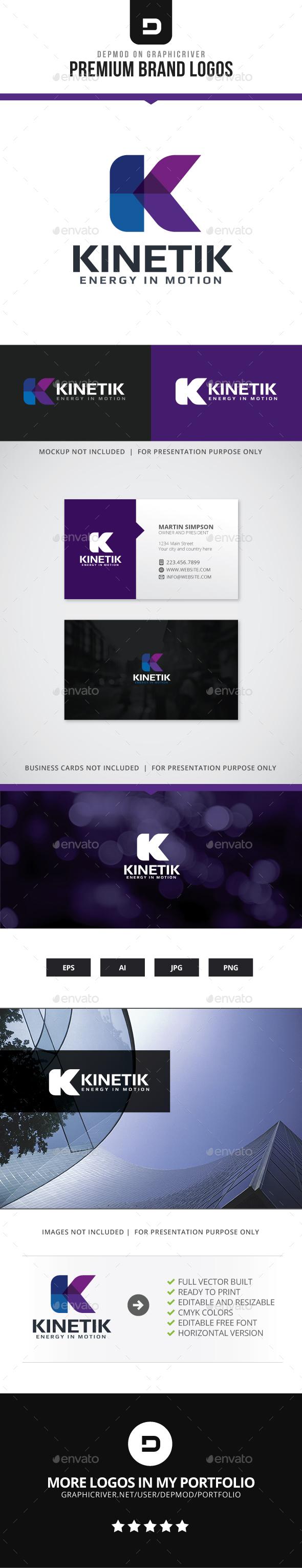 Kinetik Logo - Letters Logo Templates