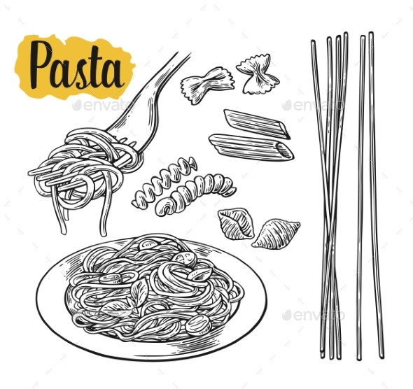 Pasta Set - Food Objects