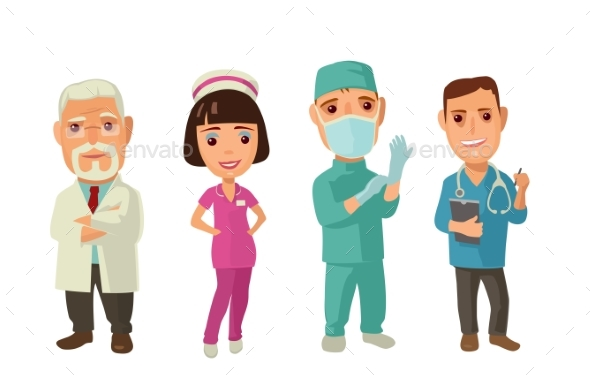 Doctor Character Set Icon - People Characters