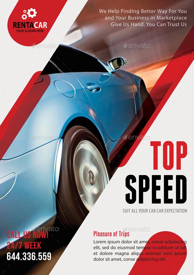 4 Automotive Car Rental Poster Bundle 02 By Rapidgraf Graphicriver