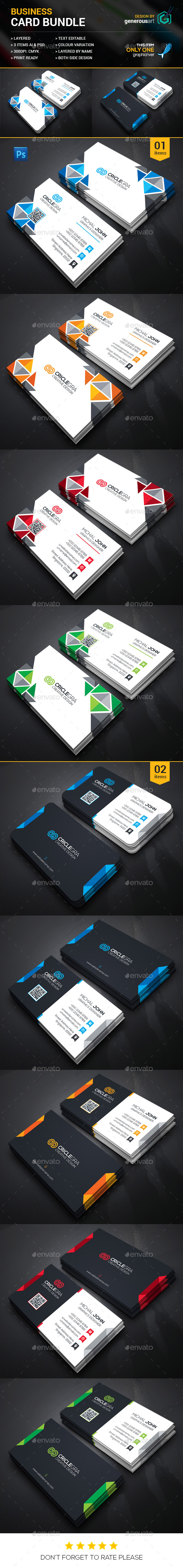 Business Card Bundle 2 in _1 - Corporate Business Cards