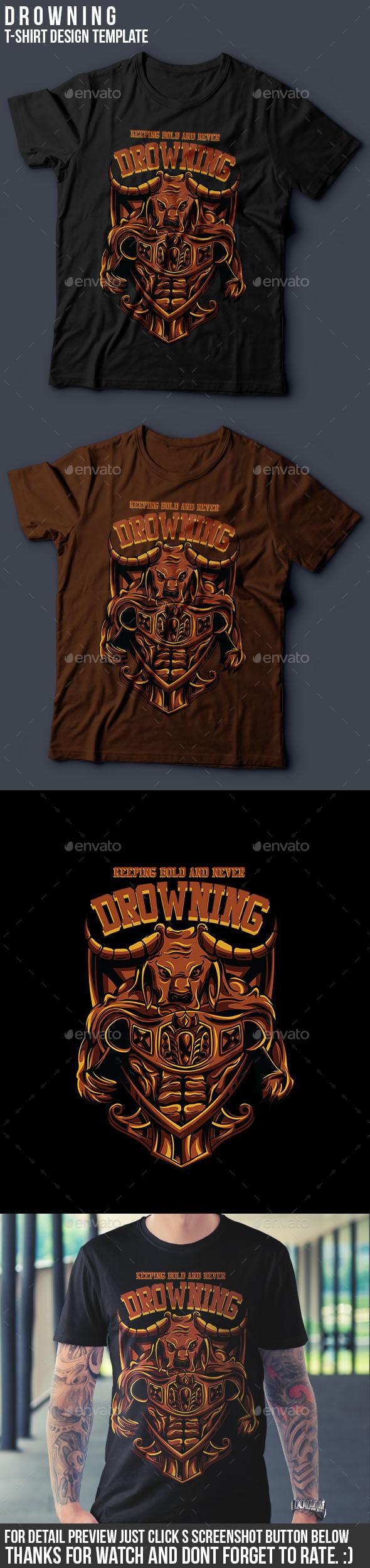 Drowning T-Shirt Design - Sports & Teams T-Shirts
