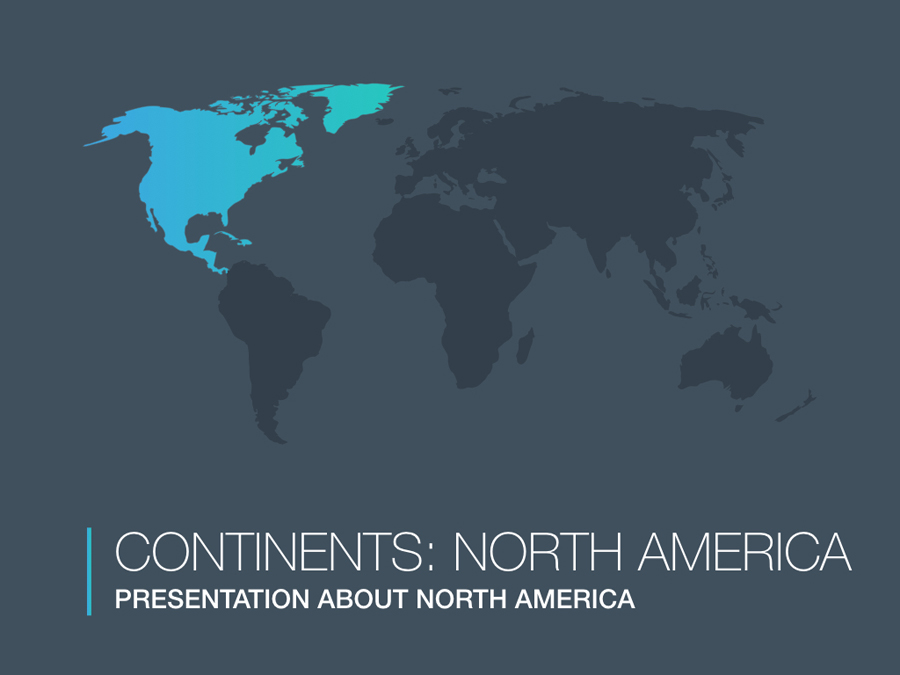 Continents: North America Keynote Template