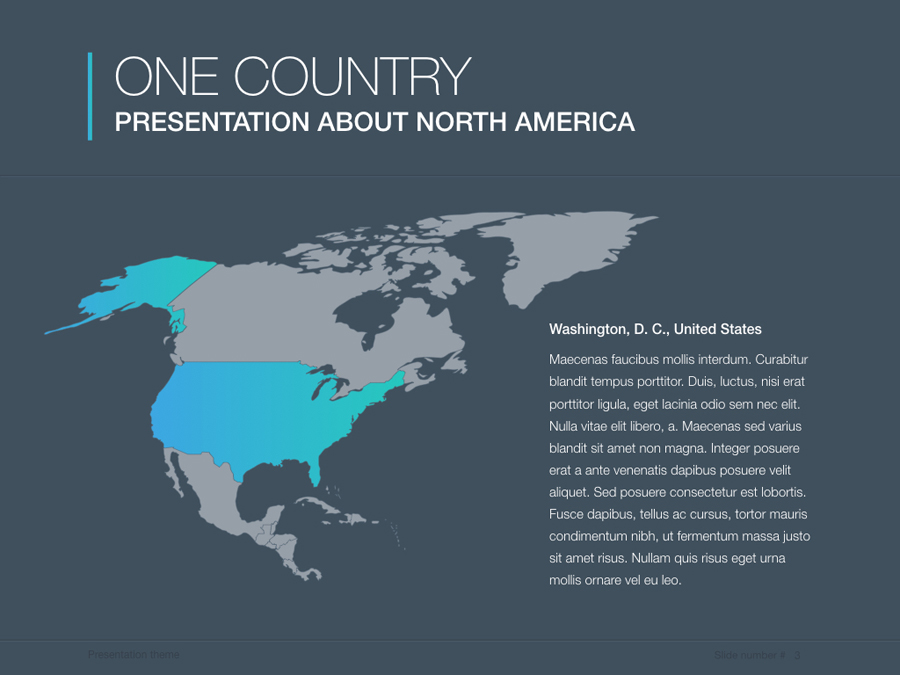 continents north america powerpoint template by jumsoft graphicriver