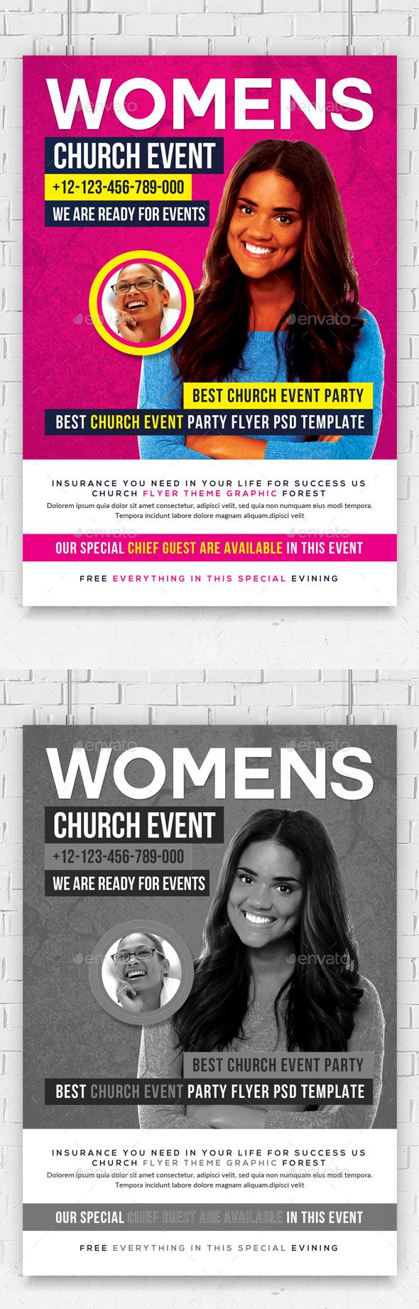 Women Church Flyer Psd Template - Church Flyers
