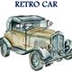 Retro Car Watercolor - GraphicRiver Item for Sale